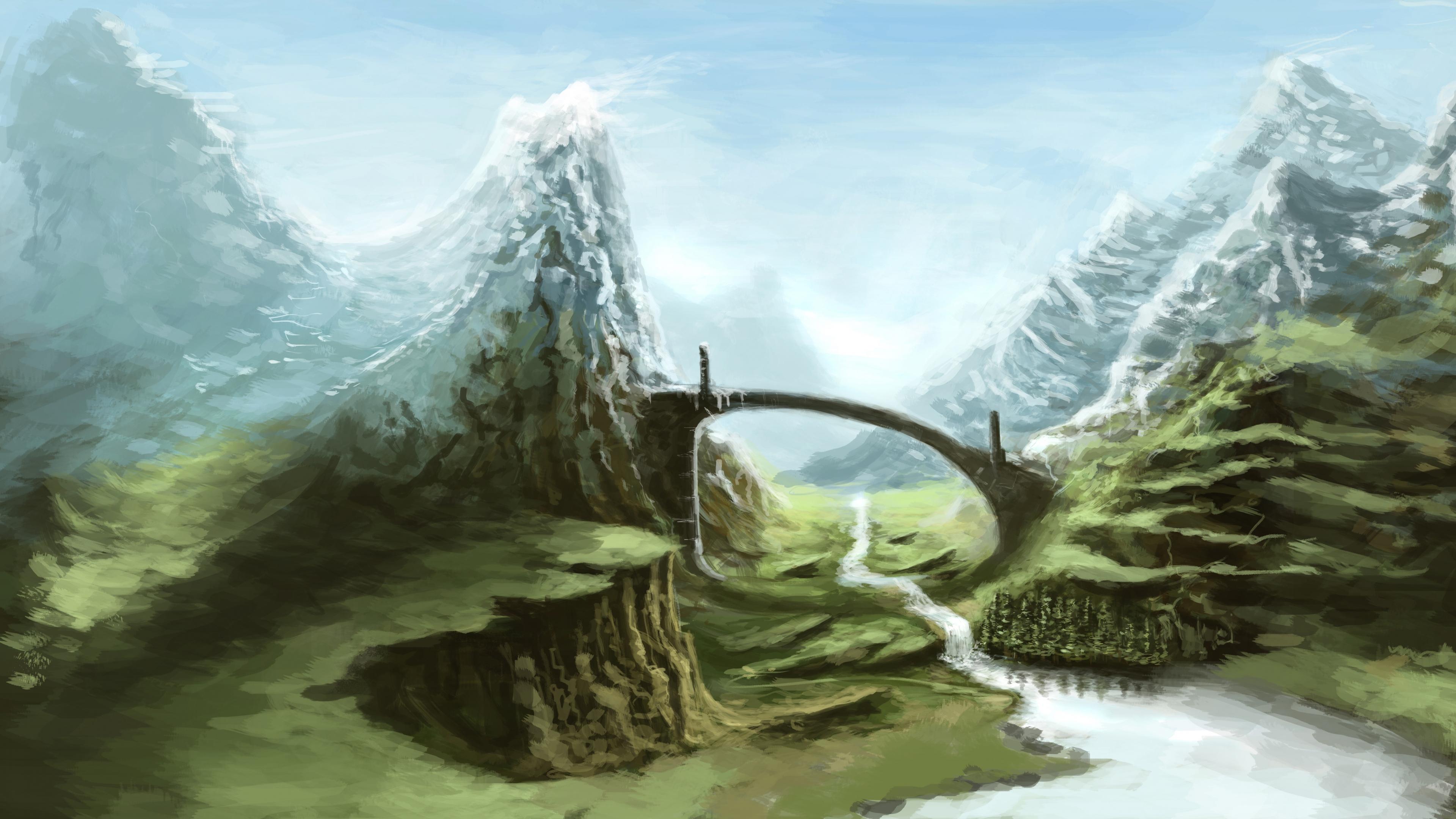 Download Wallpaper 3840x2160 Skyrim Nature Art 4K Ultra HD HD 3840x2160