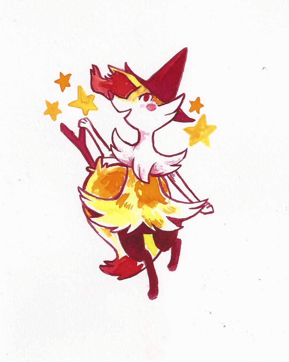 Braixen   Pokemon by HitodeKyun 932x1166