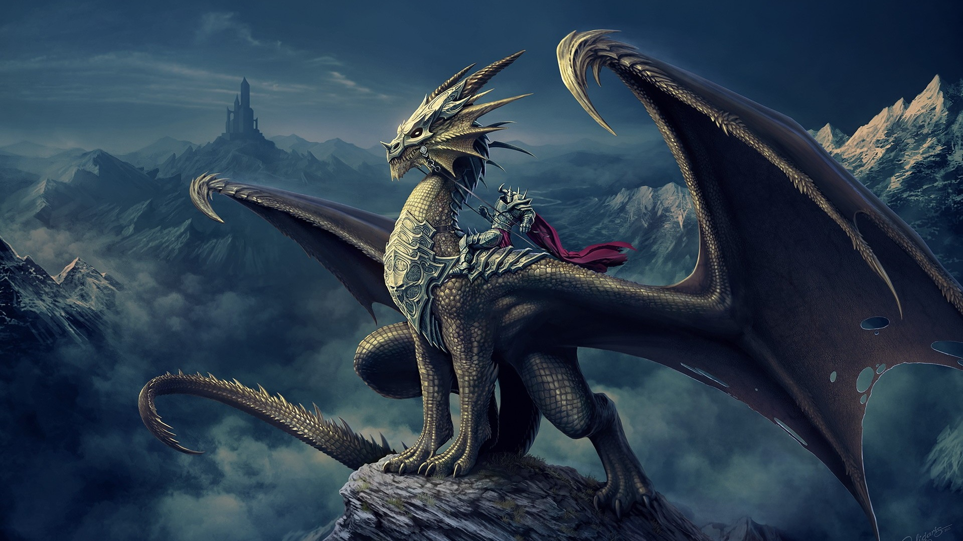 1920x1080 Dragon Rider desktop PC and Mac wallpaper 1920x1080