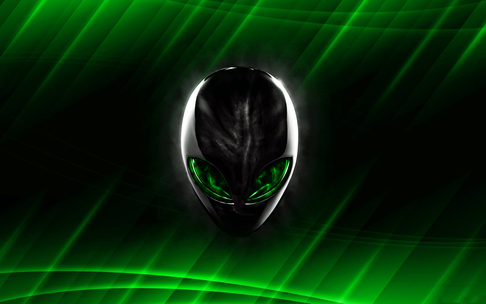 Alienware green wallpaper user Rumah IT 1680x1050