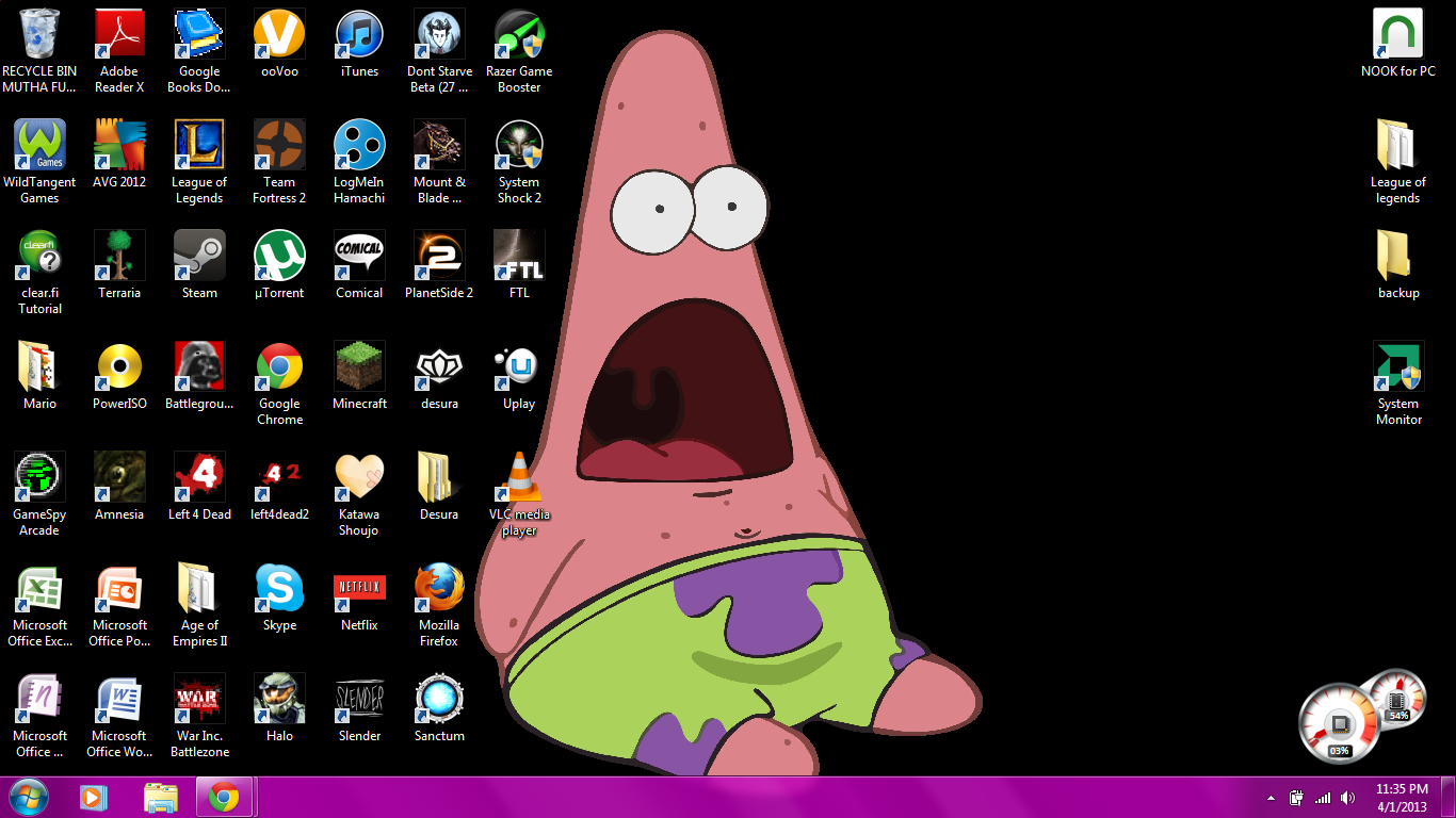 Surprised Patrick Wallpaper Pictures 1366x768