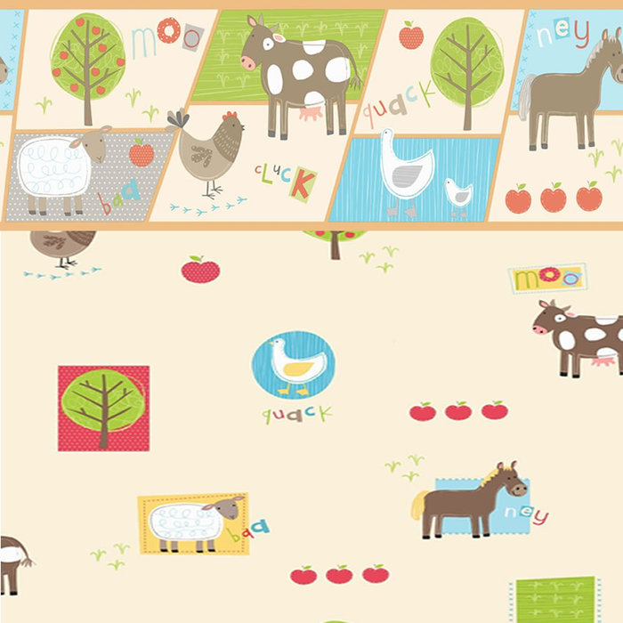 Childrens Rooms Farm Farm Wallpaper Border 700x700