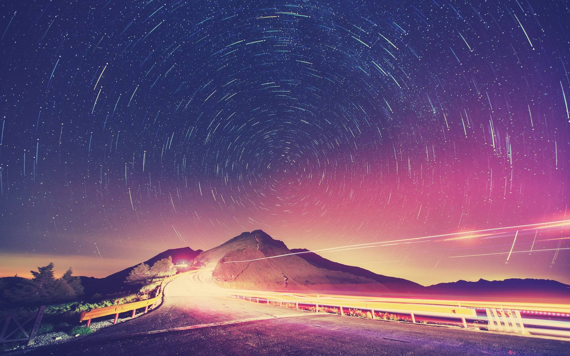 Road at Night Wallpaper for Microsoft Surface Pro