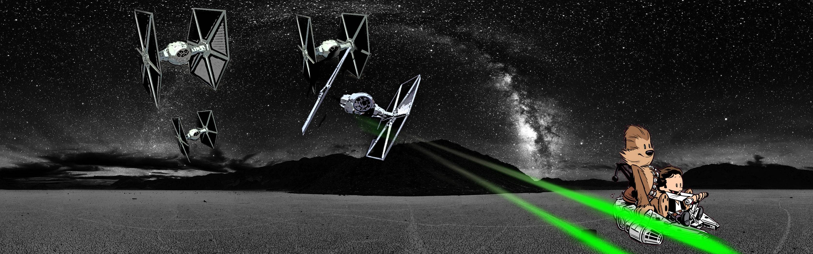 star wars triple screen wallpaper wallpapersafari