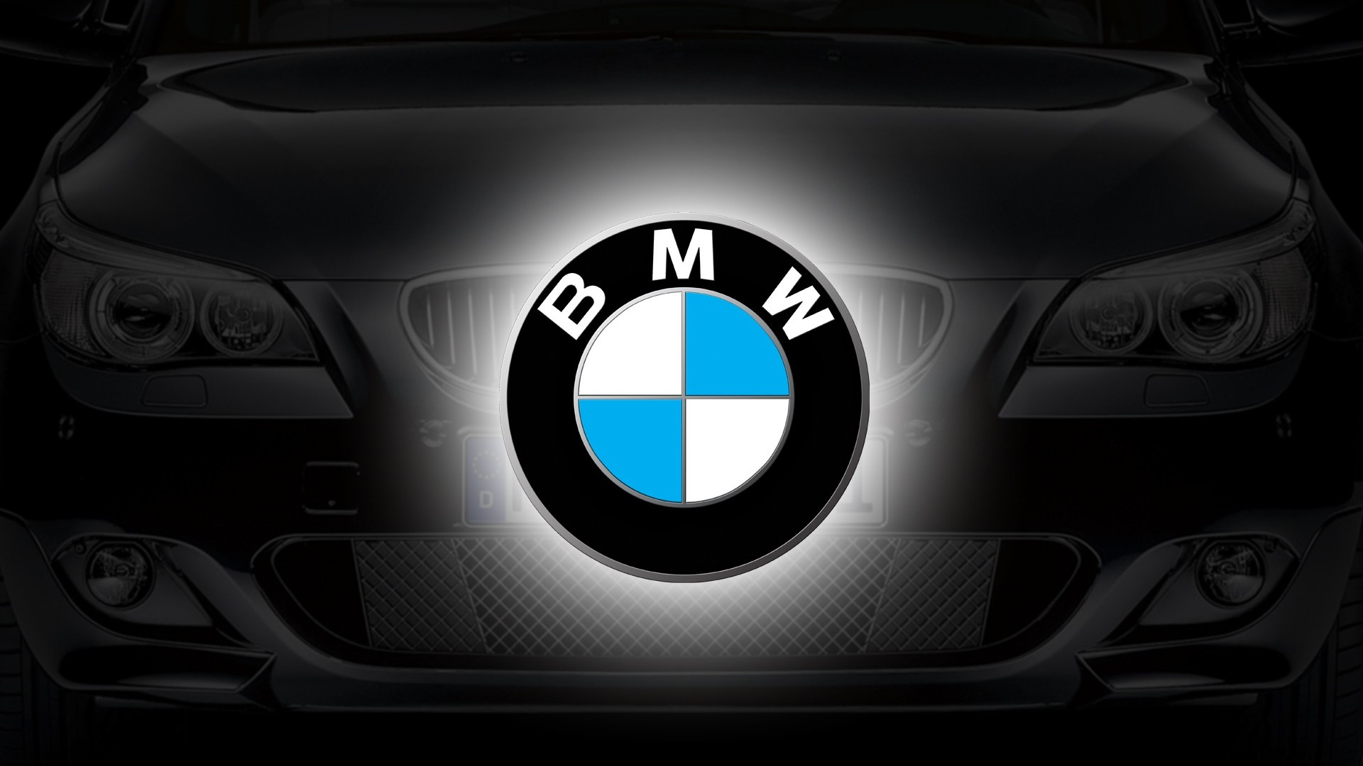 bmw car logo design background hd wallpaper 1920x1080