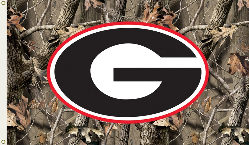 GEORGIA BULLDOGS Camo Flag 800x467