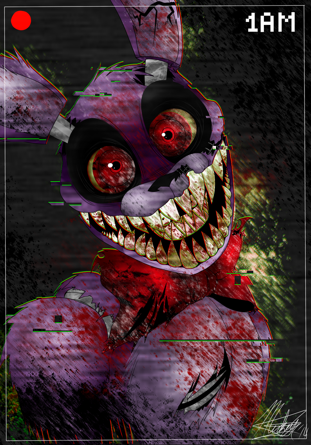 Bonnie The Creepy Ass Bunny by ToxicSoul77 1024x1463