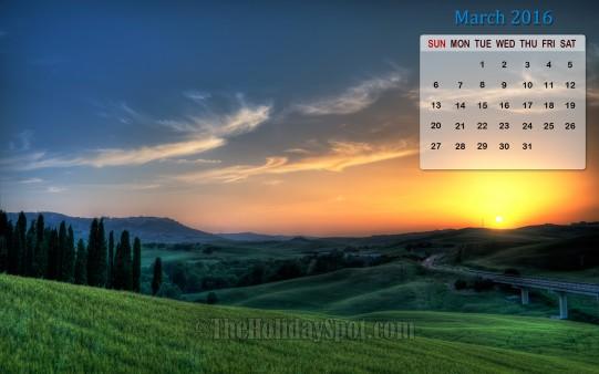Month wise Calendar Wallpapers March 2016 Calendar Wallpaper 541x338