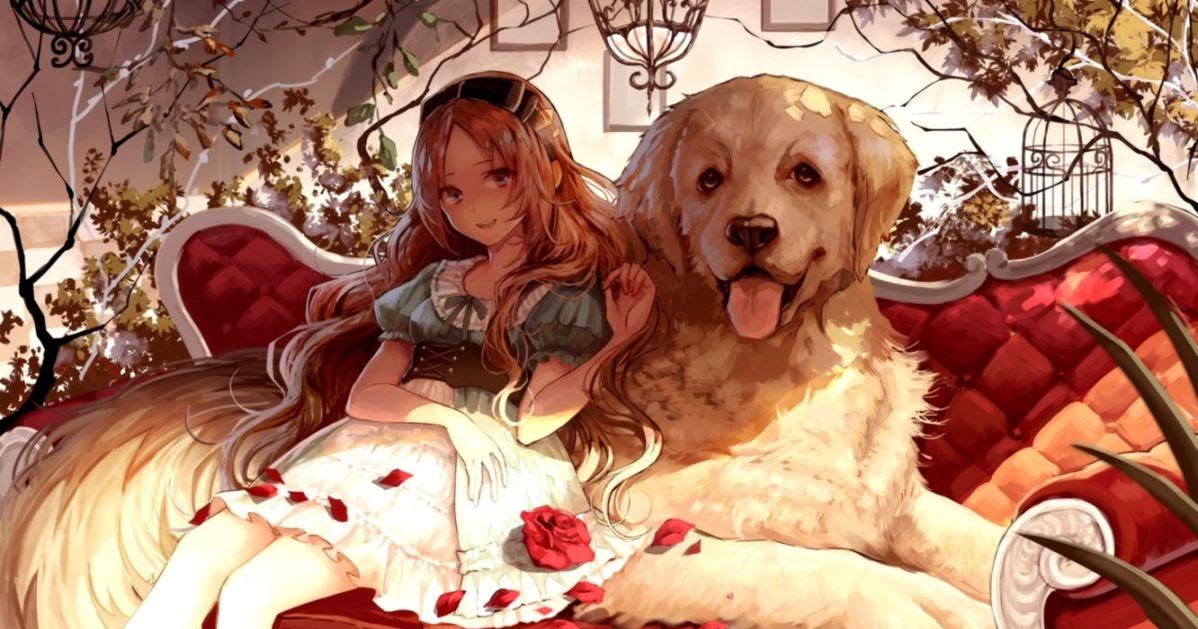 Anime Girl With Her Pet Dog readersaddict 1198x629
