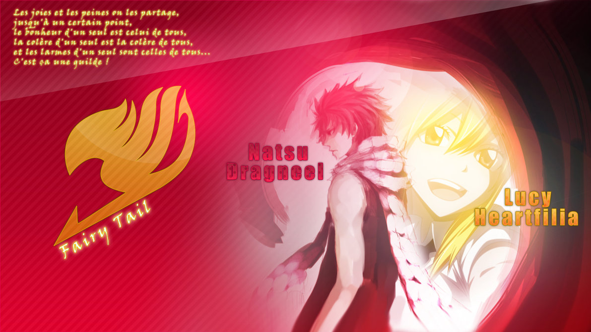 Natsu Lucy Fairy Tail Wallpaper by SaenyanEin 1191x670