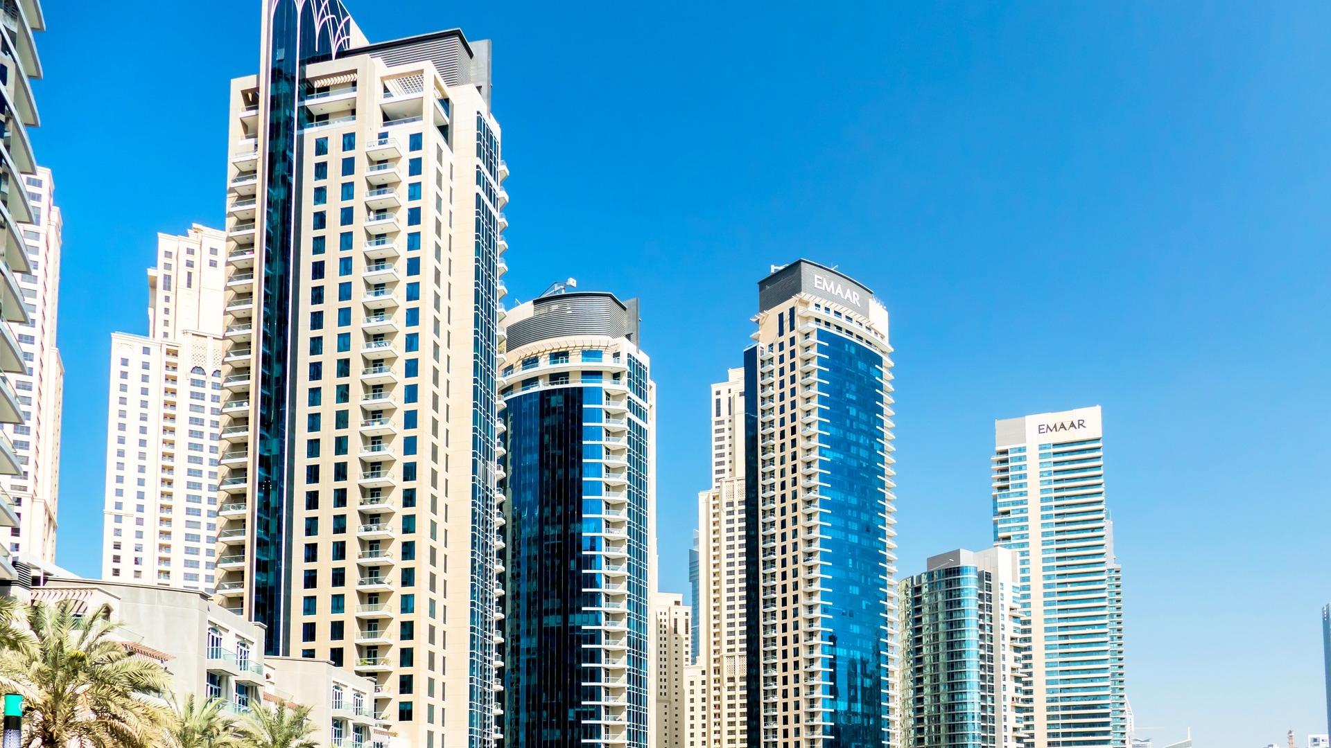 Dubai Modern Buildings Architecture Close Up Wallpaper   Wallpaper 1920x1080