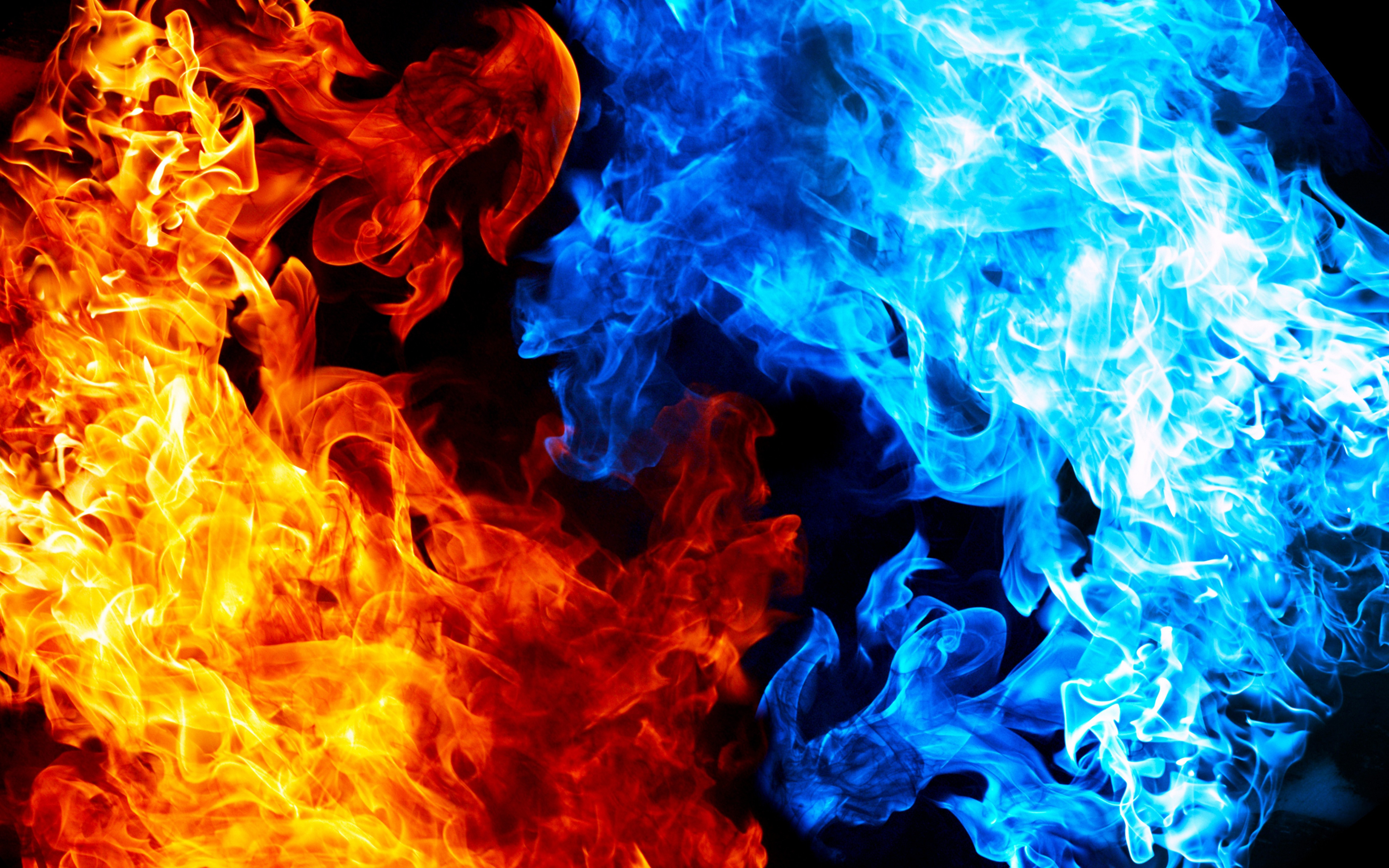 Red Yellow Blue Flame Texture Pattern Flames Fire Smoke WallpapersByte 3840x2400