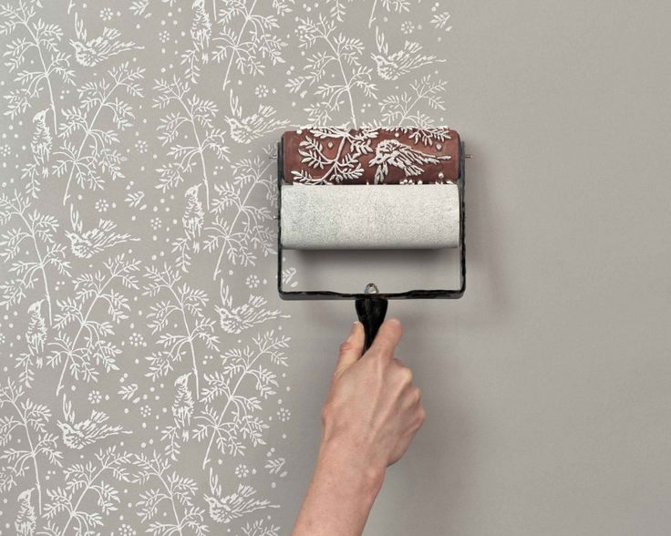 better than wallpaper These patterned paint rollers from The Painted 736x588