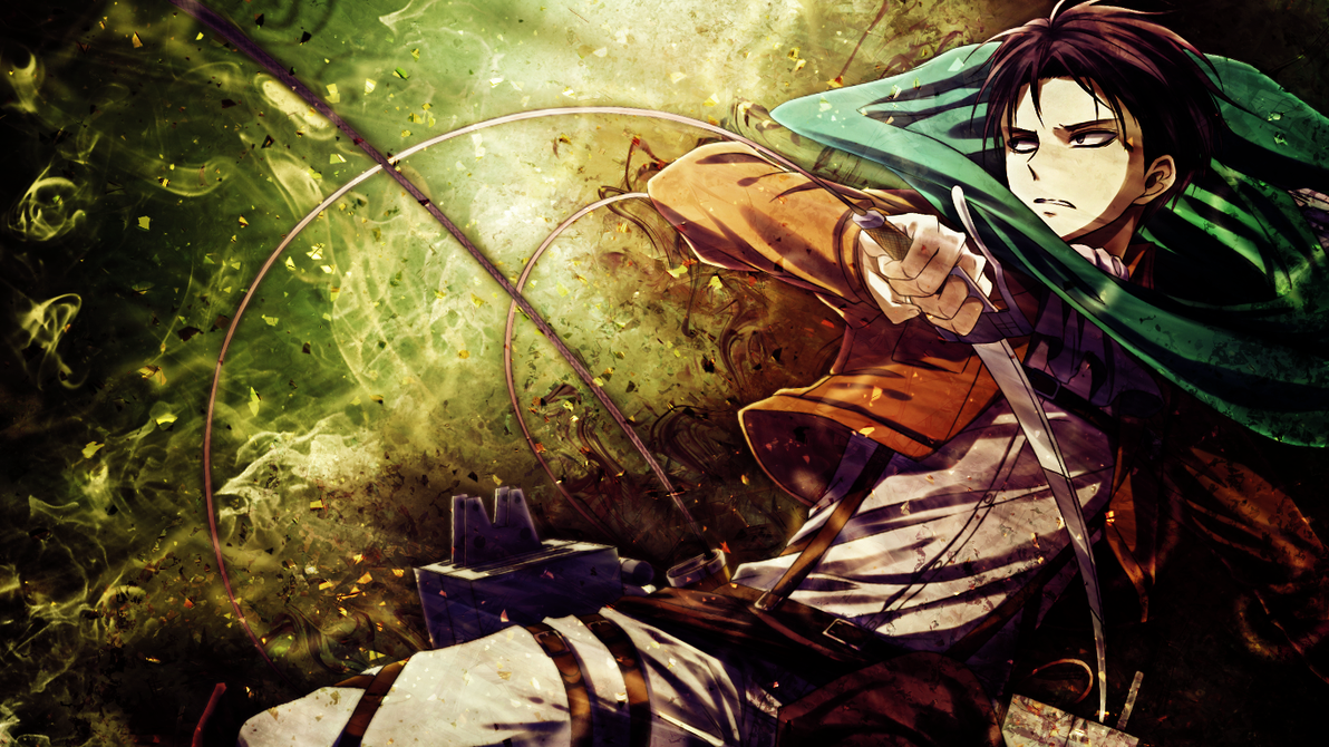 Shingeki no Kyojin Wallpaper   Rivaille Levi by umi no mizu on 1192x670