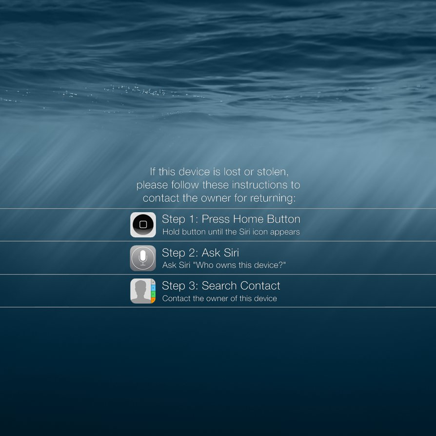 iPad Lock Screen Wallpaper Encouraging Return by YJCH0I 894x894