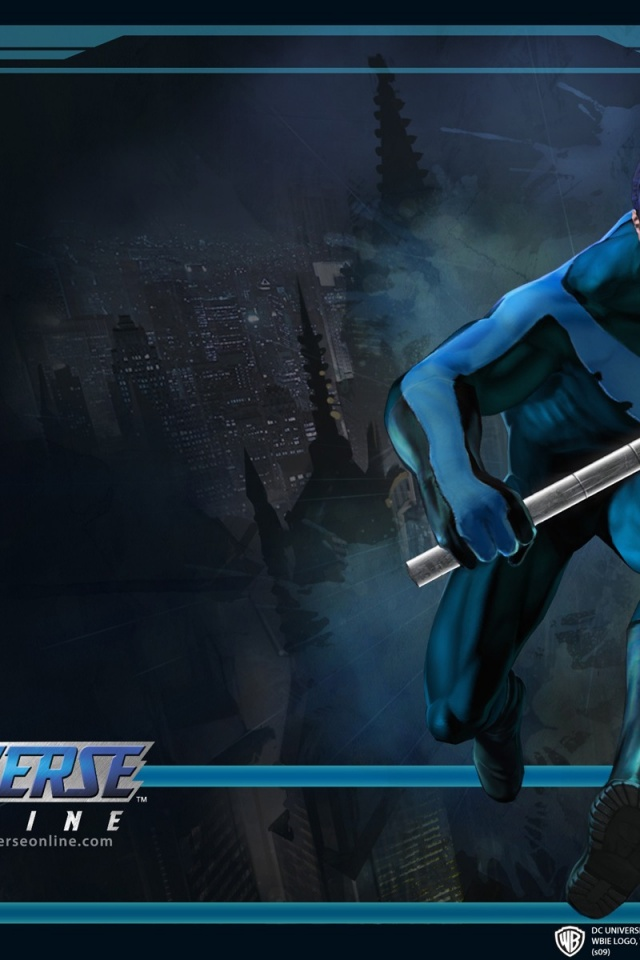 640x960 DC Universe Online Nightwing Iphone 4 wallpaper 640x960