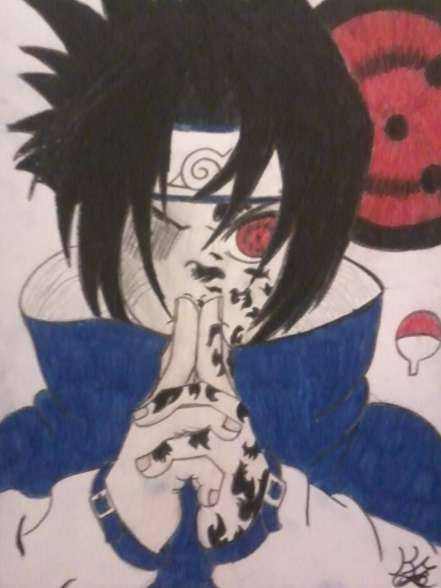 sasuke uchiha The curse mark by sakura1318 900x1200