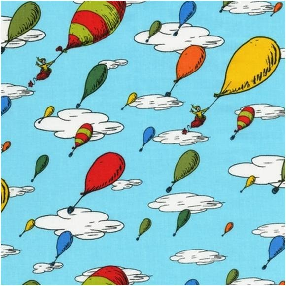 dr seuss oh the places you ll go colorful balloons blue background dr 580x580