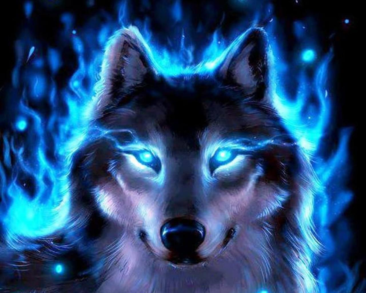 Cool wolf backgrounds wallpapersafari - Cool animal wallpaper light ...