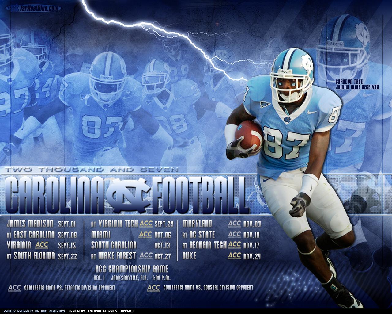 North Carolina Football Wallpaper 1280x1024