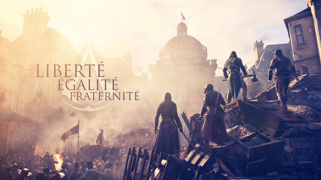 Assassins Creed UNITY Wallpaper 4K L E F  by mastersebiX on 1024x576