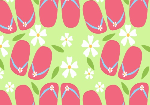 Cute pink flipflops summer HD Background Wallpaper 500x350