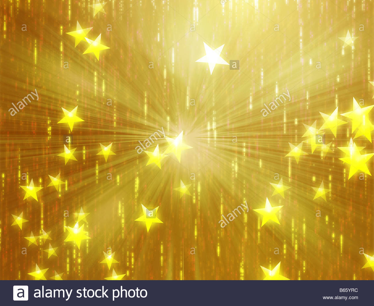 Abstract geometric wallpaper background of floating glowing stars 1300x1065