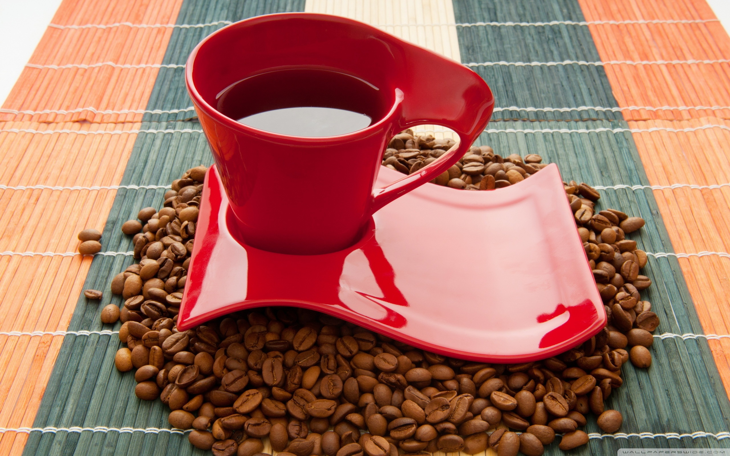 Red Coffee Cup Wallpaper   Cups and Dishes Wallpaper 28466310 2560x1600