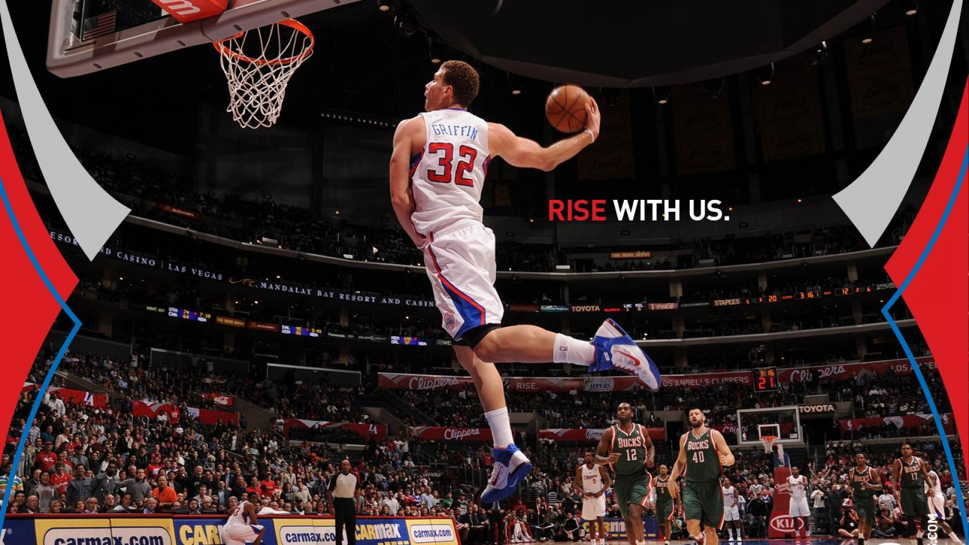 Slamdunk Blake Griffin Los Angeles Clippers Nba Slam Dunk U S A 271556 1920x1080