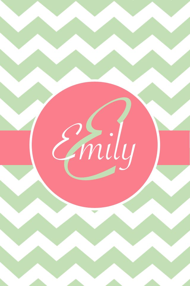 Emily wallpaperIphone Wallpapers Green Chevron Dina Wallpapers 640x960