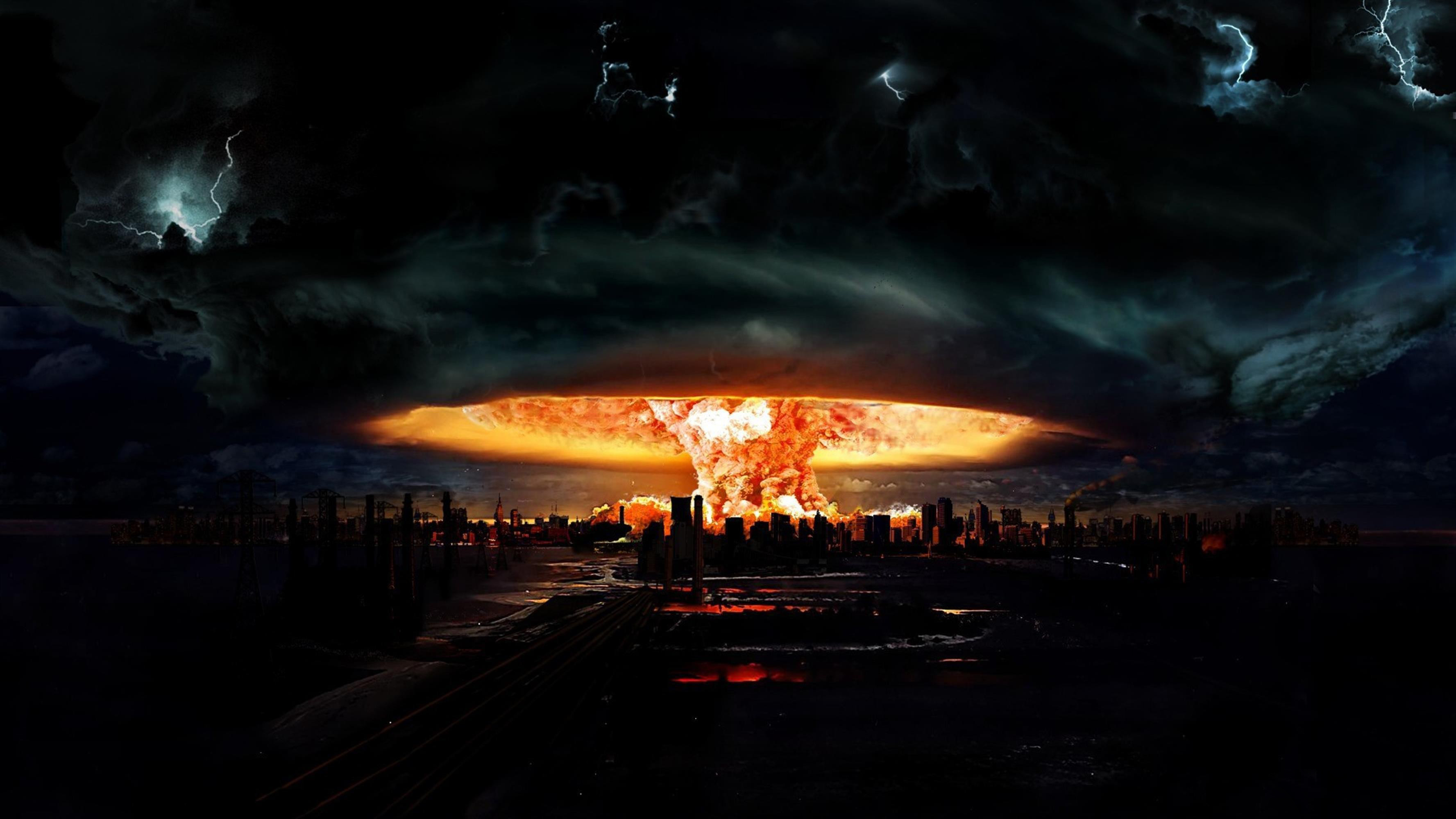 Nuclear Explosion Wallpaper Hd 3554x1999
