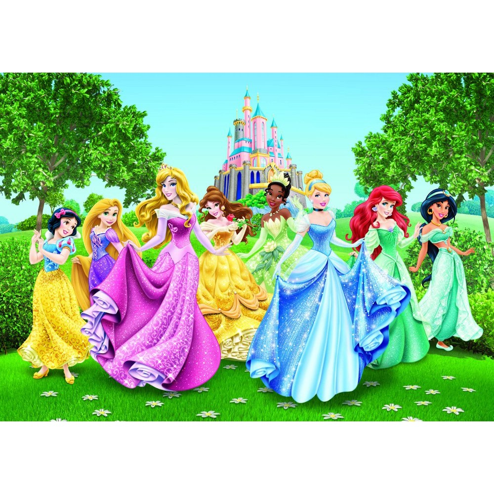 Disney Princesses and Castle Wallpaper Great KidsBedrooms the 1000x1000