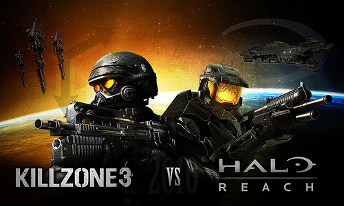 Killzone 3 vs Halo Reach Flickr   Photo Sharing 500x300