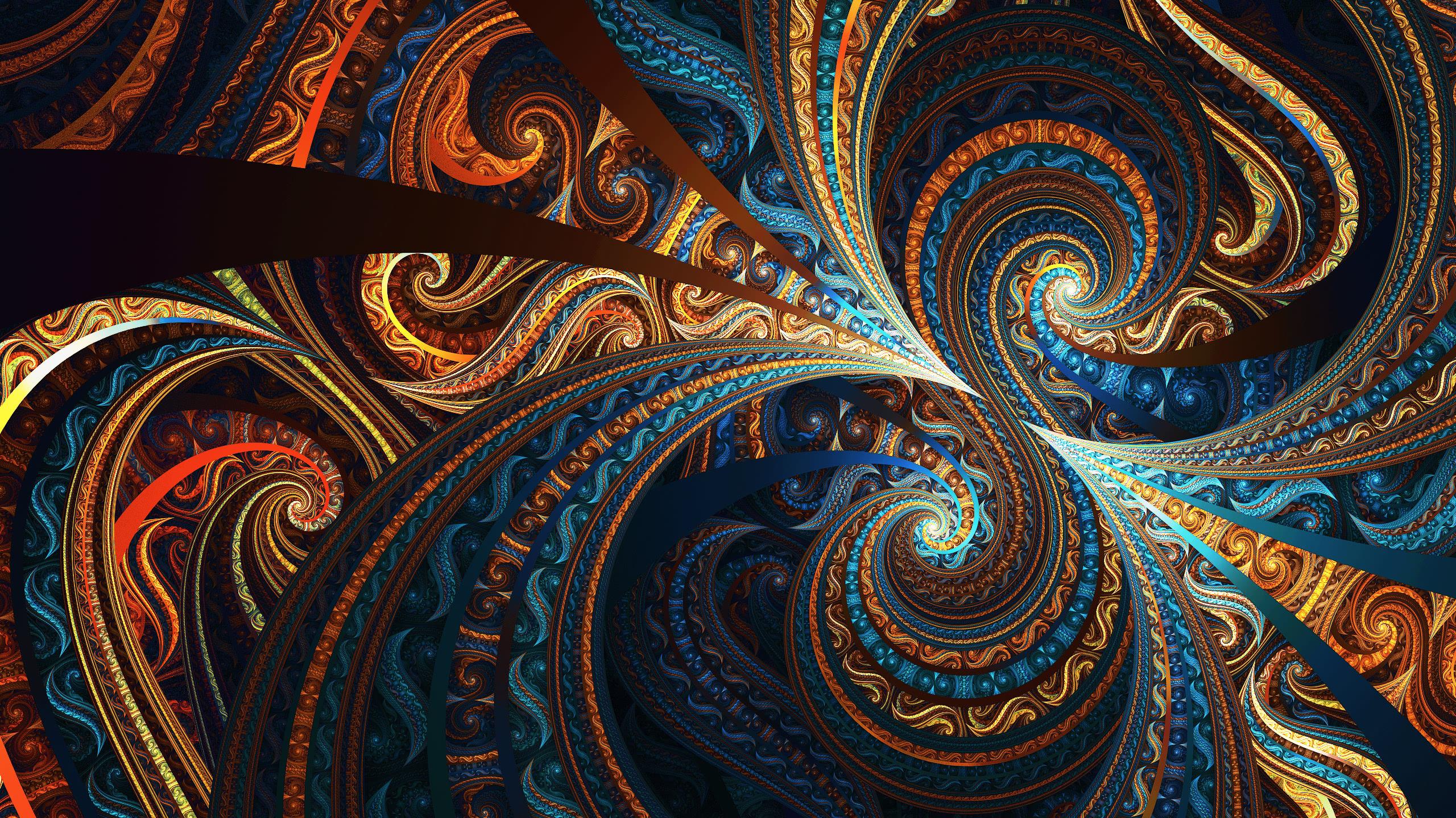 Fractal Colorful WQHD 1440P Wallpaper Pixelz 2560x1440