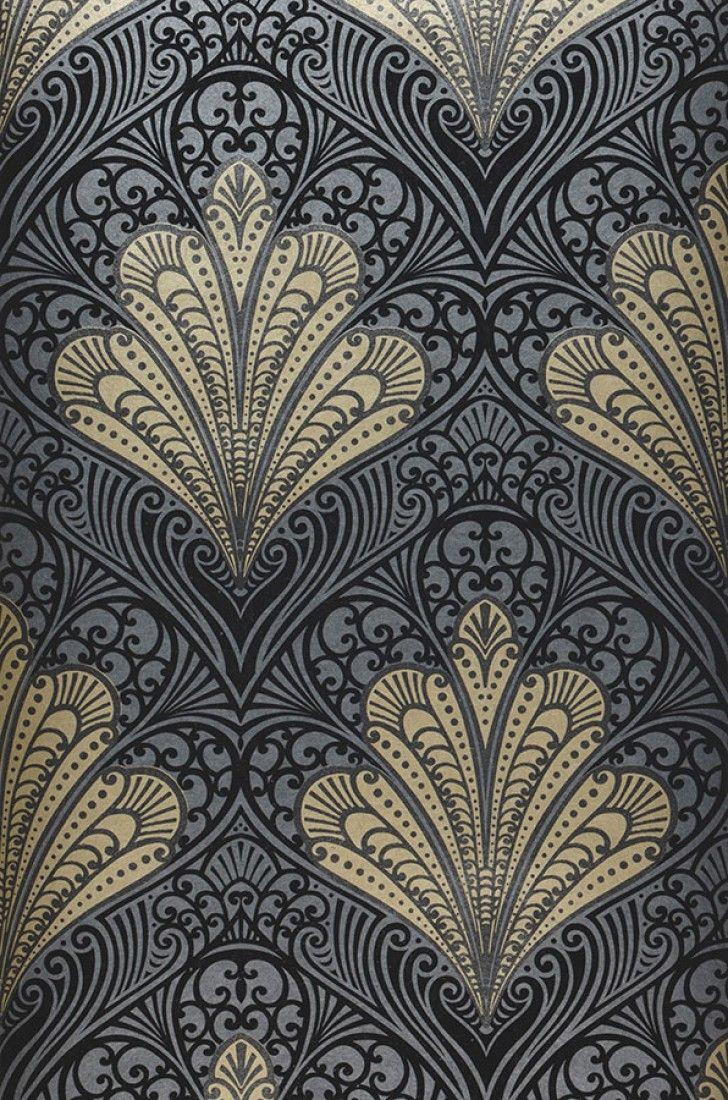 Wallpaper Astoria Decor in 2019 Art deco pattern Art deco 728x1100