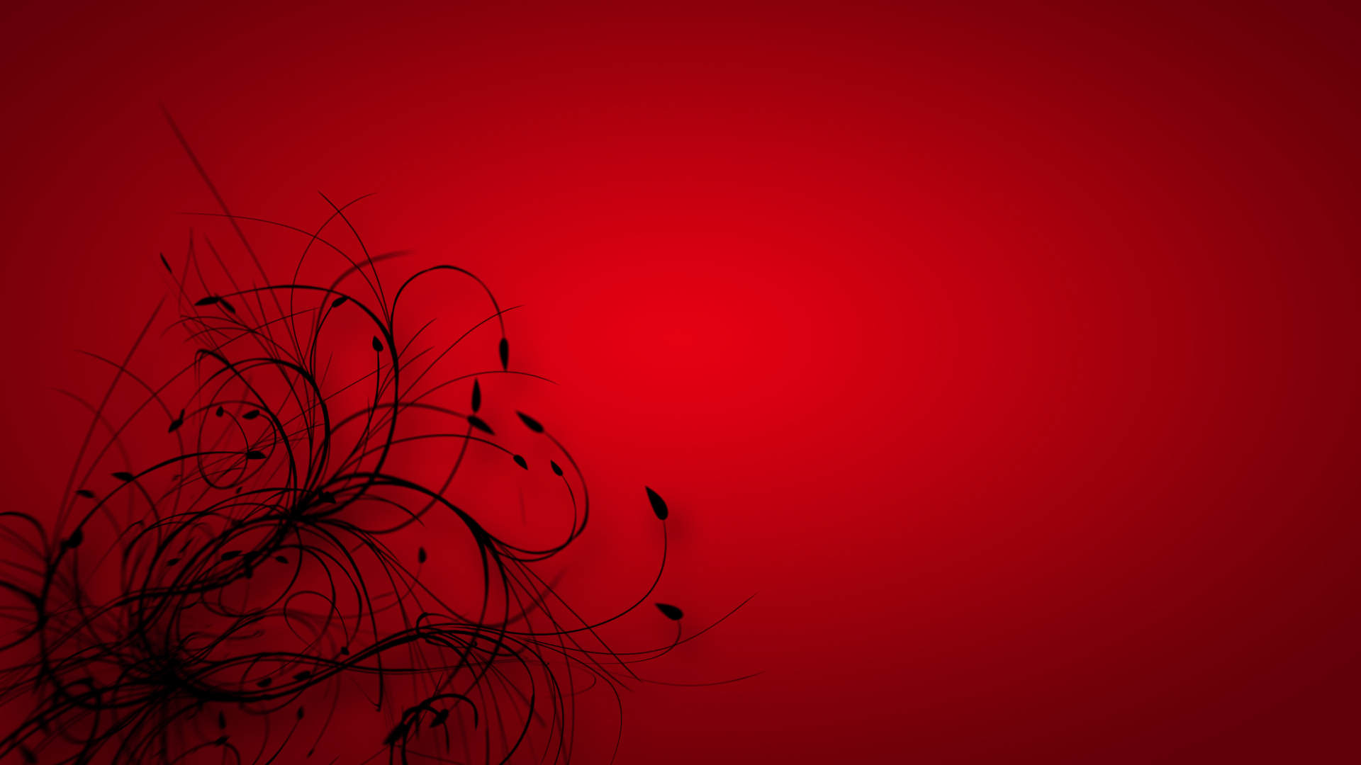 Red Black Abstract Wallpaper