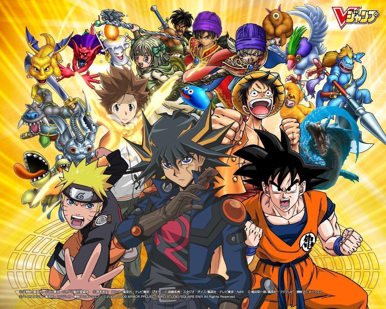 Goku And Naruto Wallpapers 1280x1024
