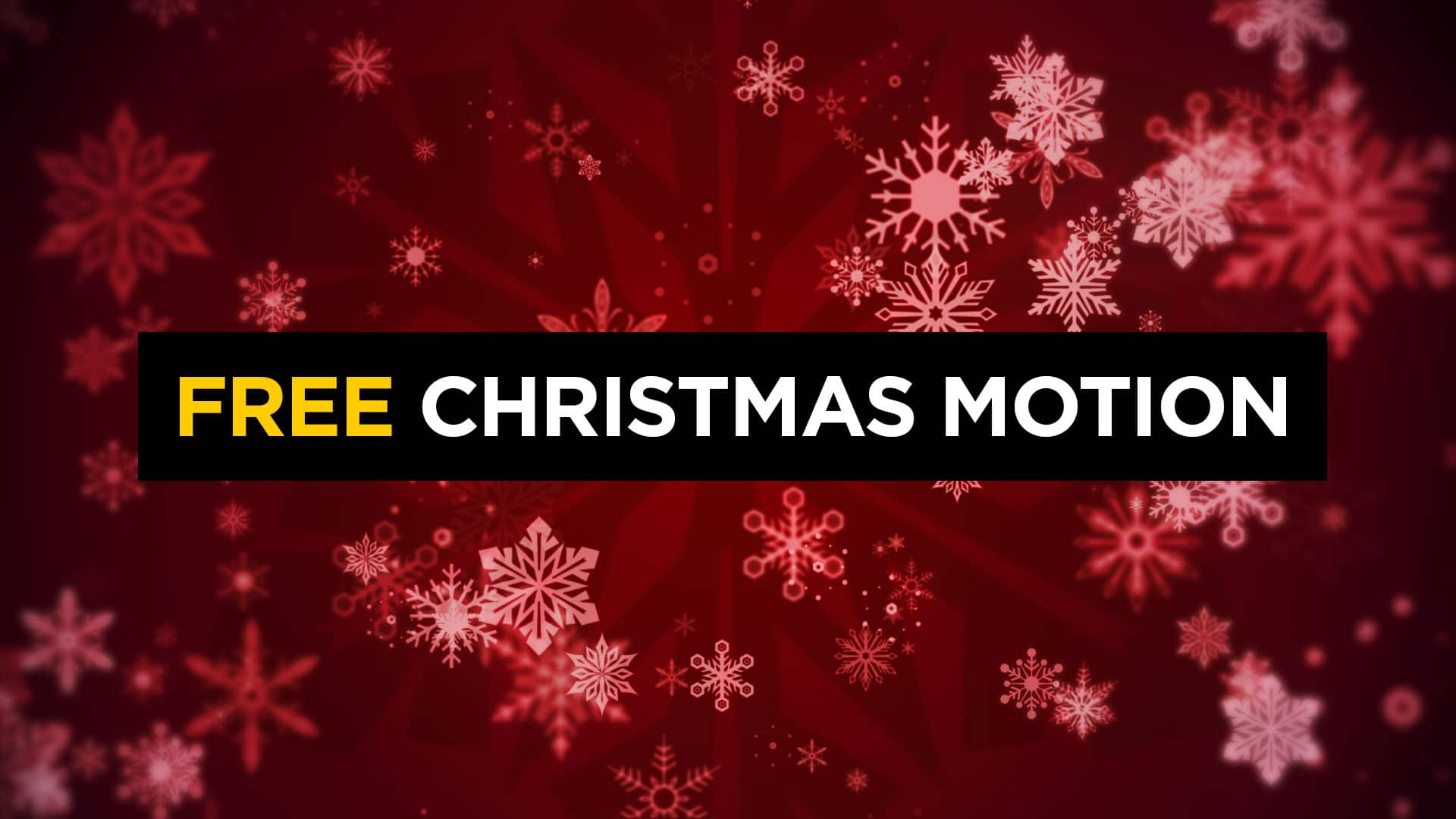 Christmas Snowflake Motion Background CMG Church Motion 1920x1080