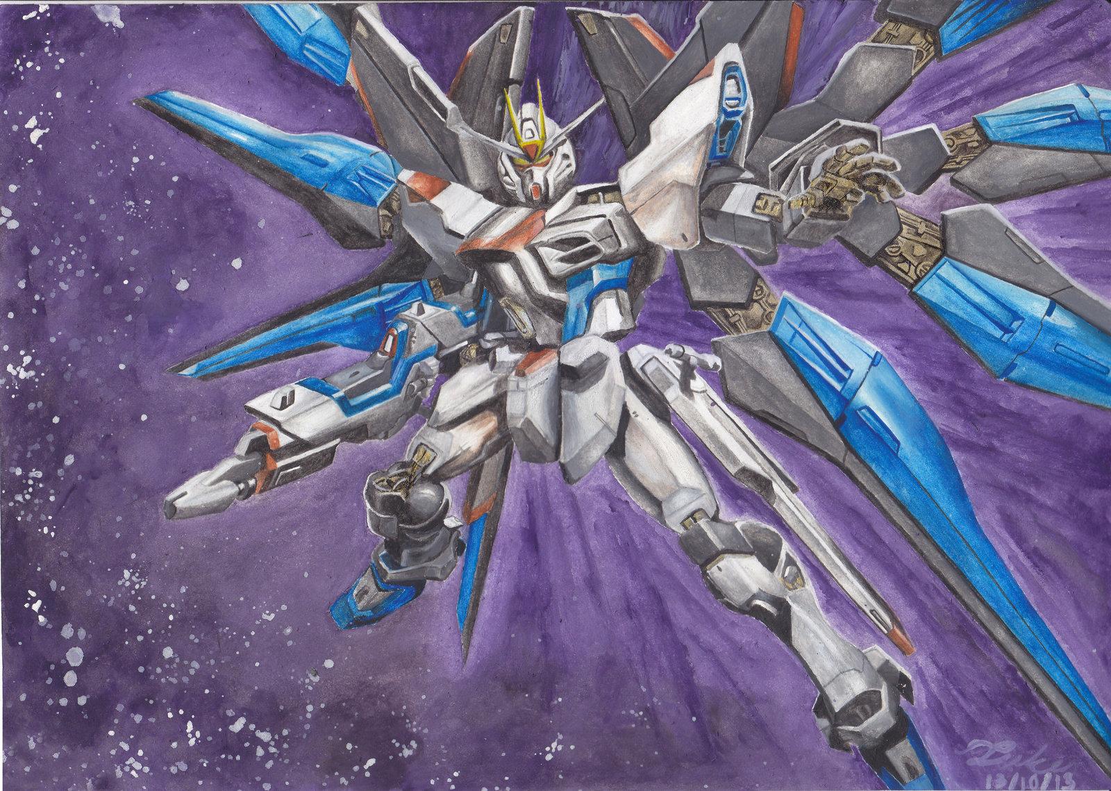 ZGMF X20A Strike Freedom Gundam by LukeLdh 1600x1139