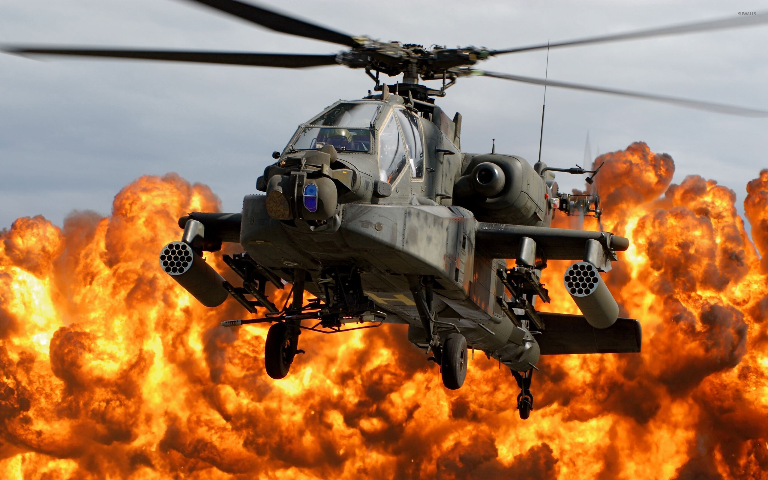 Boeing AH 64D Apache Longbow wallpaper   Aircraft wallpapers   10851 2560x1600