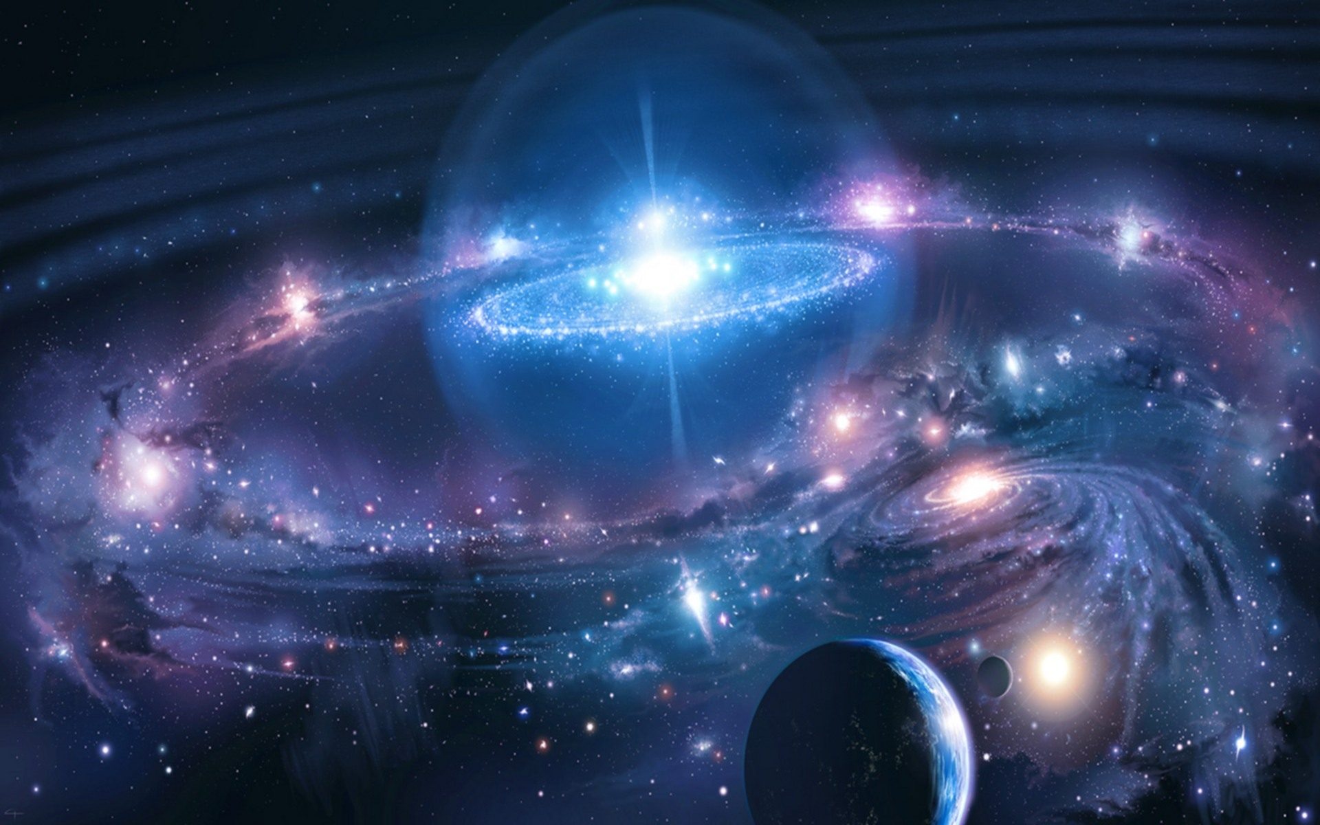 galactic universe desktop wallpaper