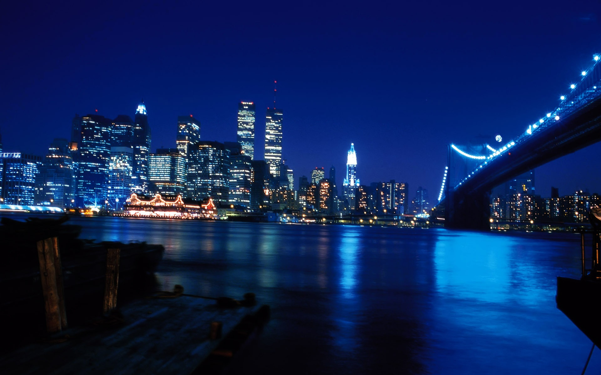 New York City At Blue Night 1920 x 1200 Download Close 1920x1200
