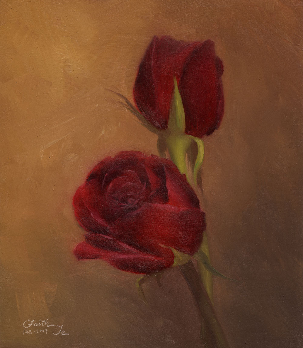 Large Oil Paintings Of Roses for Pinterest 1000x1150