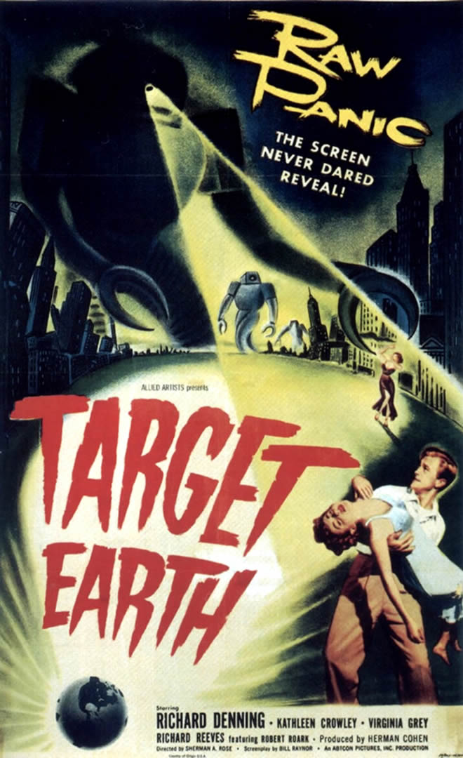 TARGET EARTH   Alien Invasion B Movie Posters 660x1080