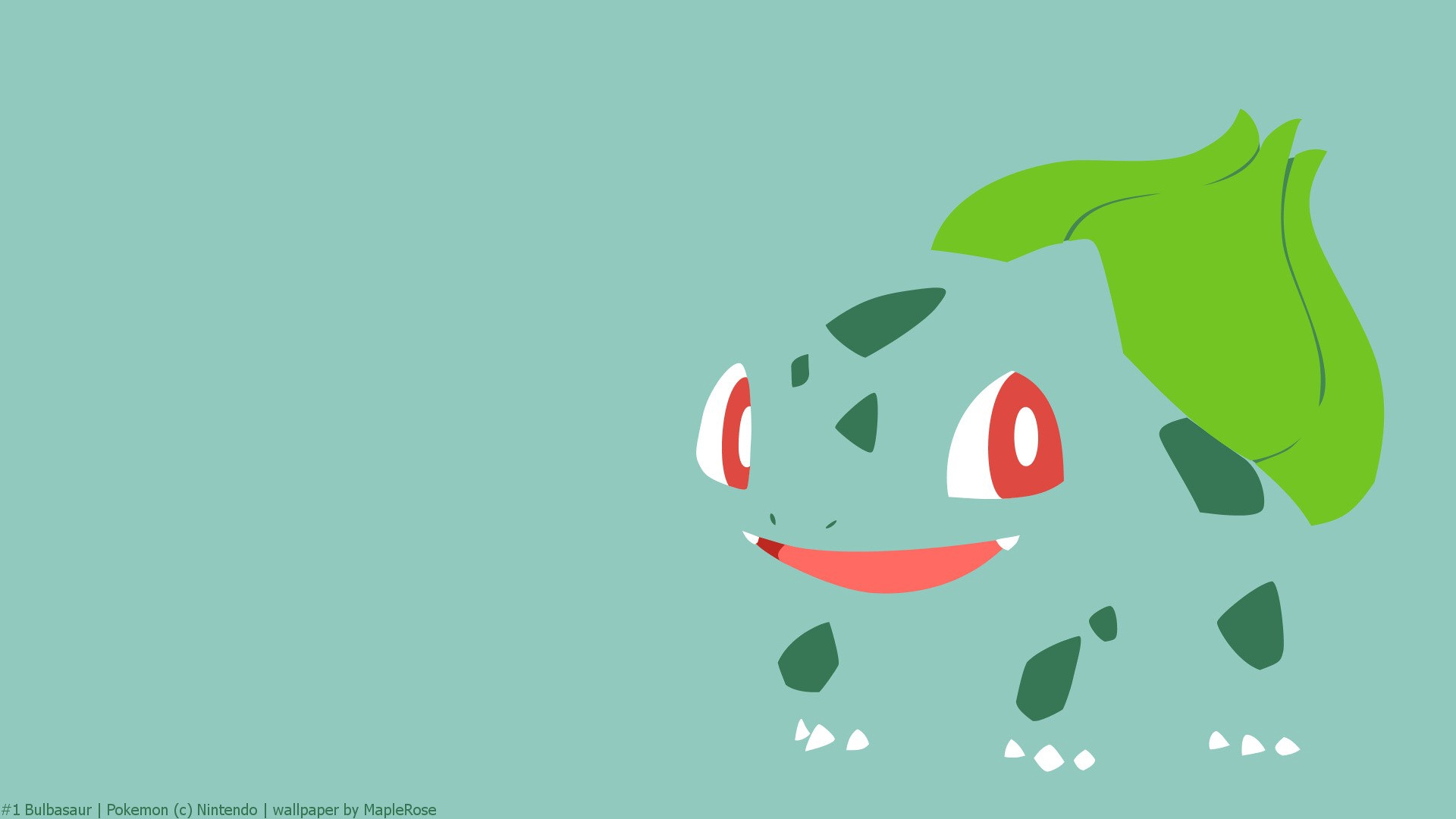Download wallpaper 1920x1080 bulbasaur pokemon drawing hd background 1920x1080