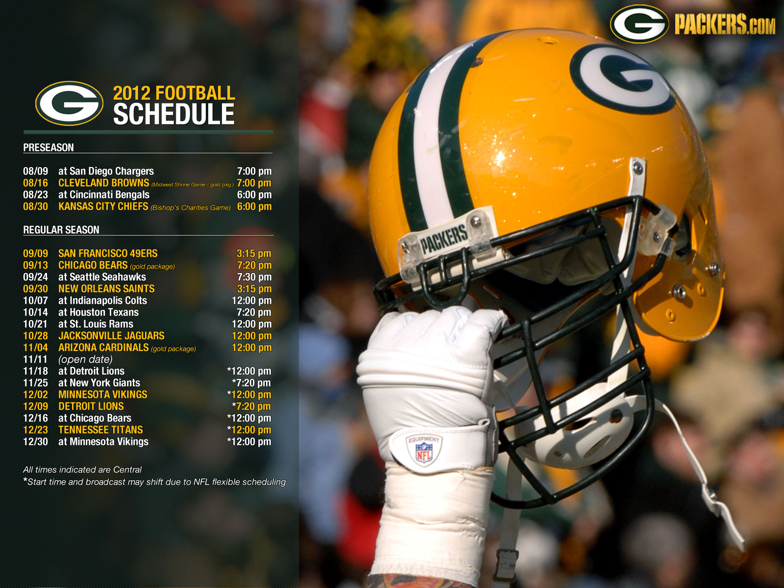 Green Bay Packers Schedule Wallpaper Wallpapersafari