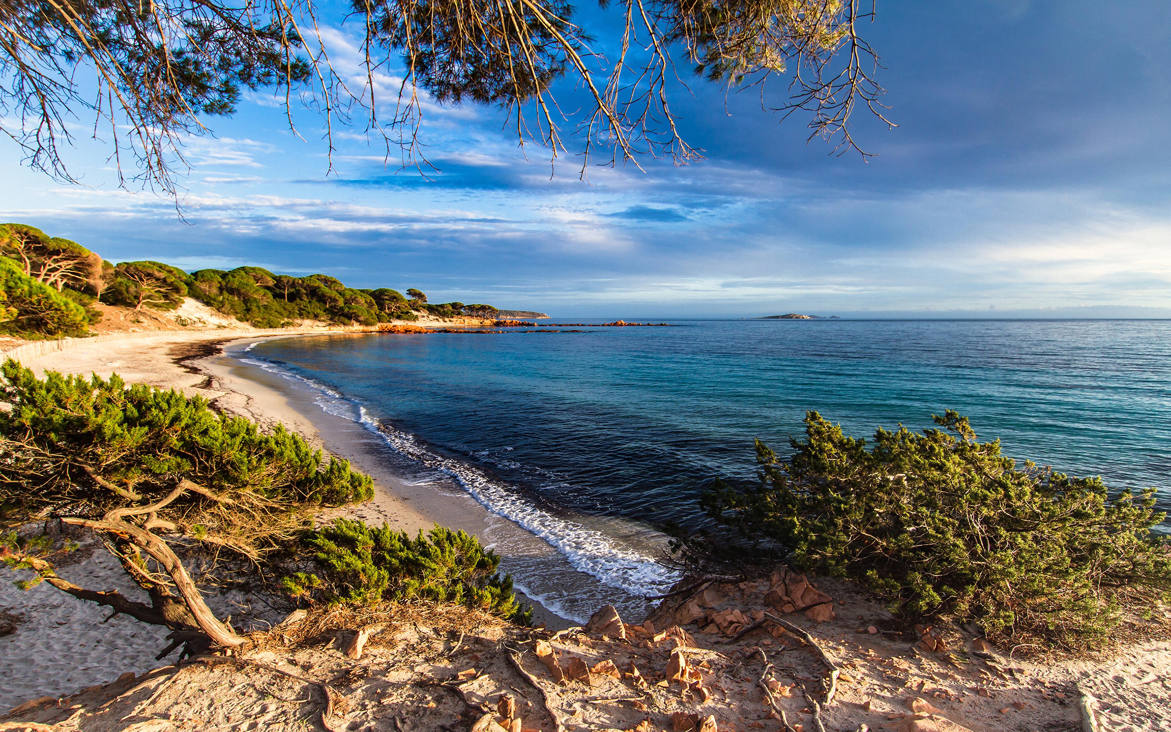 Desktop Wallpapers France Corsica Nature Waves Coast 3840x2400 3840x2400