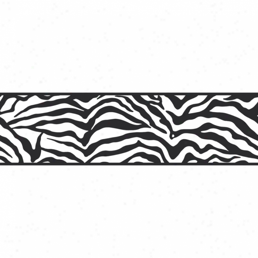zebra black and white self adhesive border wallpaper Car Pictures 837x837