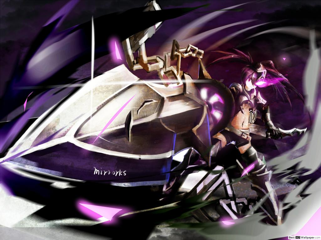 IBRS Black Rock Shooter HD wallpaper download 1024x768
