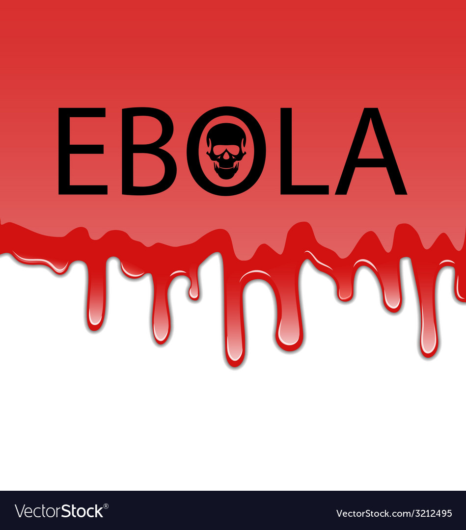 Bloody background with Ebola virus Royalty Vector Image 949x1080
